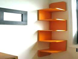 Oak Corner Shelves Wall Mount Adorable Modern Corner Bookshelf Corner Shelves Wall Large Corner Wall Mount