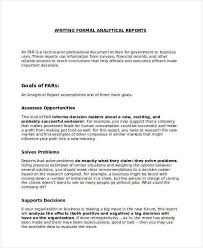 How To Write A Formal Business Report Example Business Report Example