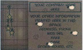 Primitive Business Cards