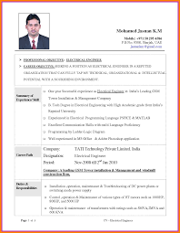 Electrician Cv 11 Cv Template For Electrical Engineer Theorynpractice