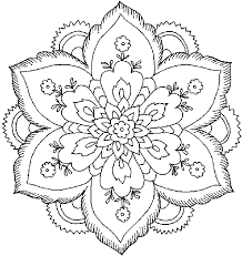 Small Picture Printable Adult Flower Coloring Pages 83 For Coloring Online with
