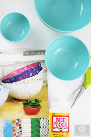 How To Decorate A Bowl How to Decoupage a Plastic Bowl with Scrapbook Paper Live Colorful 59