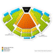 New Theatre Restaurant Seating Chart Vivid Seats Dining