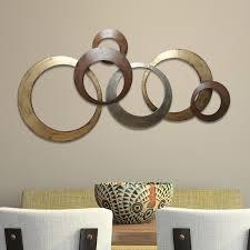 Stratton Home Decor Interlocking Circles Metal Wall Decor - Free Shipping  Today - Overstock.com - 17623993
