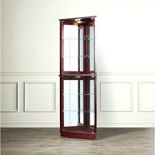 curved glass curio cabinets all cabinet contemporary
