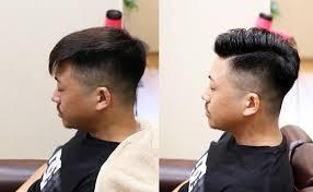 外人風七三スタイル日本人の硬い髪でも出来る方法は 茨城県