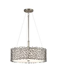 elstead lighting kichler silver c 3 light duo mount pendant in classic pewter finish with height adjule rods