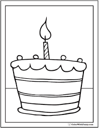 Small Picture Birthday Cake Coloring Page Printable birthday cake color page