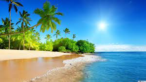 Colorful beach view HD wallpaper download