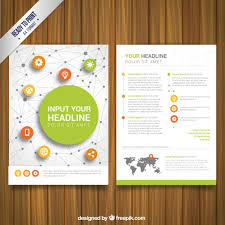 networking flyer network brochure vector free download