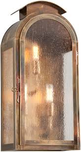 troy 4403hbz copley square traditional solid brass fluorescent outdoor lighting wall sconce loading zoom