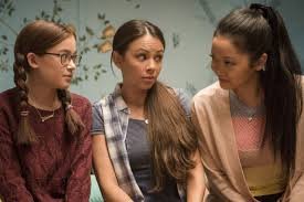 To all the boys i've loved before is a 2018 american teen romantic comedy film directed by susan johnson and written by sofia alvarez. The Covey Sisters From To All The Boys I Ve Loved Before Keep In Touch Irl Via Group Chat Teen Vogue