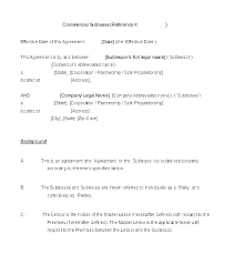 Sublease Form Free Sublet Lease Agreement Plate Download Sublease