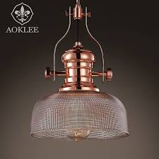 get ations retro industrial loft style restaurant lights creative personality rose gold plated glass chandelier wrought iron clothing