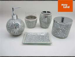 glass bathroom accessories. Innovational Ideas Mosaic Bathroom Accessories Amazing Decoration Glass Accessory 5pcs Set With Cracking Mirror Ball