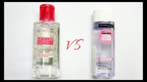 maybelline micellar water vs maybelline total clean express makeup remover review demo