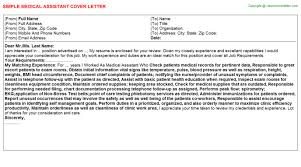 Medical Assistant Cover Letter Cover Letters Templates