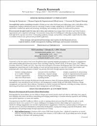 Resume Management Consultant Resume For Study