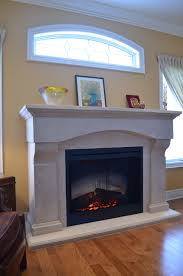 custom cast mantel with dimplex 39dxp electric fireplace insert design by stylish fireplaces