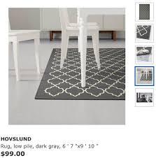 new grey ikea hovslund large area rug for in phoenix az offerup