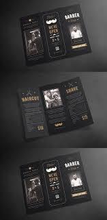 Blackboard Trifold Barbershop Brochure Adobe Illustrator Adobe