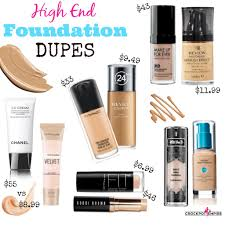here are some of my favorite high end foundations at s that are almost exact