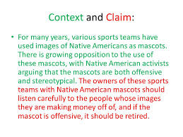 strategies for argument answering the opposition ppt  context and claim for many years various sports teams have used images of native