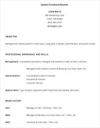 Functional Resume Pdf Sample Of Functional Resume Foodcity Me