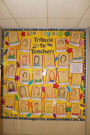 bulletin board designs for office. the kids did portraits of teachers for office bulletin board mary wallis designs i