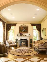Inspiration for a timeless living room remodel in Baltimore with beige  walls and a standard fireplace