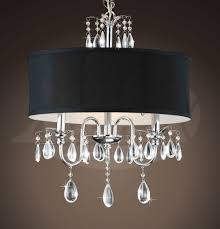 sienna chrome 3 light black shade crystal chandelier 18 w x 22