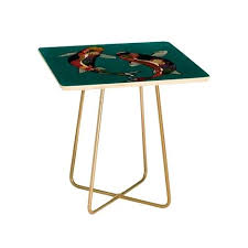 side table drawer blues clues. Turquoise Side Tables Deny Designs Sharon Turner Koi Teal Blue Table Blues Clues Drawer