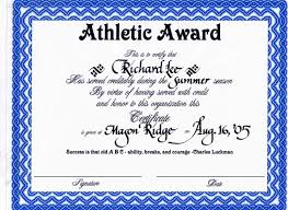 Sport Certificate Templates For Word Reference Letter Template