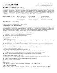Resume Format For Hotel Management Hospitality Manager Resume