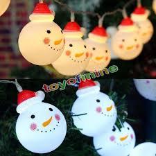 Indoor Snowman Lights Snowman String Lights Fairy Led Christmas Light Home Garden