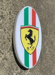Ferrari badge led light up garage sign petrol logo supercar testarossa. Ferrari Badge Led Light Up Garage Sign Petrol Logo Supercar Testarossa 308gtb Ebay
