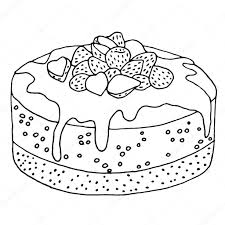slice of cake clipart black and white. Interesting And Cake With Strawberries Icon Vector Illustration Ingredients  Transparent Png Stickpng Strawberry Clipart Strawberry Slice For Slice Of Clipart Black And White