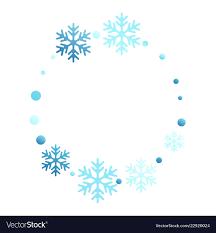 Winter Snowflakes And Circles Border