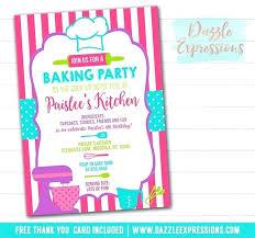 Baking Birthday Party Invitations Free Teen Birthday Party