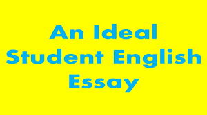an ideal student english essay you