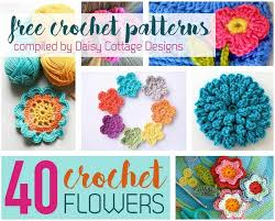 Crochet Flowers Patterns Beauteous Crochet Flower Pattern Collection From Daisy Cottage Designs