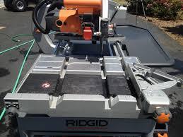 ridgid tools saw. ridgid tile saw 18 tools r