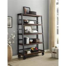 bookcases for home office. wade mahogany mobile ladder bookcase bookcases for home office