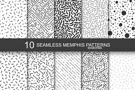 Illustrator Pattern Swatches Inspiration Memphis Seamless Patterns Swatches By Design Bundles