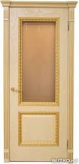Межкомнатная дверь <b>Валентино</b>, <b>патина золото</b> (стекло) от ...
