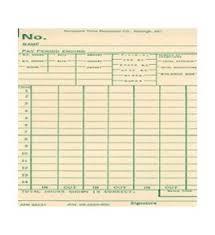 Acroprint Acr85231 1000 Pk Biweekly Time Card