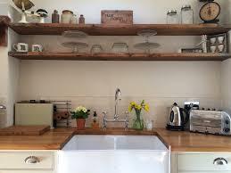 diy floating shelves kitchen