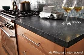 black formica countertop as wood countertops