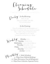 House Cleaning Schedule Daily Weekly Monthly House Cleaning Schedule