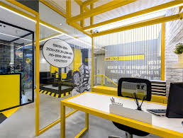 Image Space It Has Been Designed To Provide Him Having The Opportunity To Exercise In The Office Photography Furkan Uyan Interiorzinecom Black And Yellow Emre Group Office Interior Interiorzine